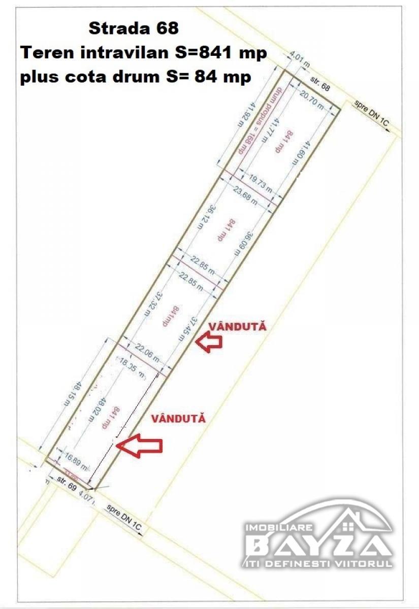Pret: 3500 EURO, Vanzare teren, zona Tautii Magheraus - Strada 69 si 68
